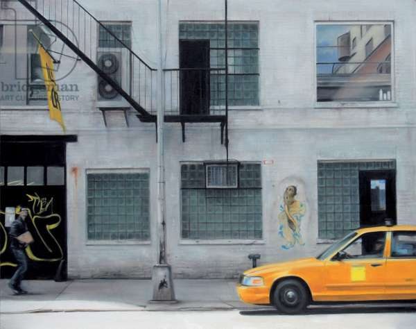 West 22nd Street, Taxi 2007 (oil on calico)