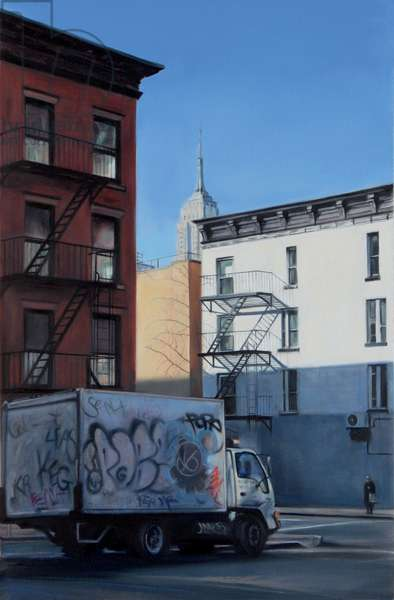 Empire View, 1st Avenue, 2007  (oil on calico)