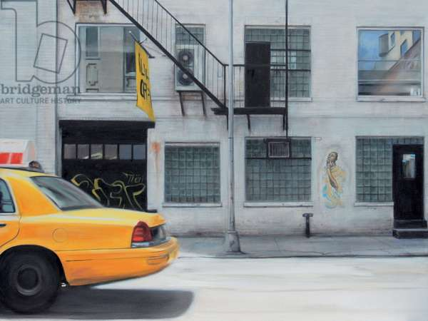 West 22nd Street Taxi (II) 2007 (oil on calico)
