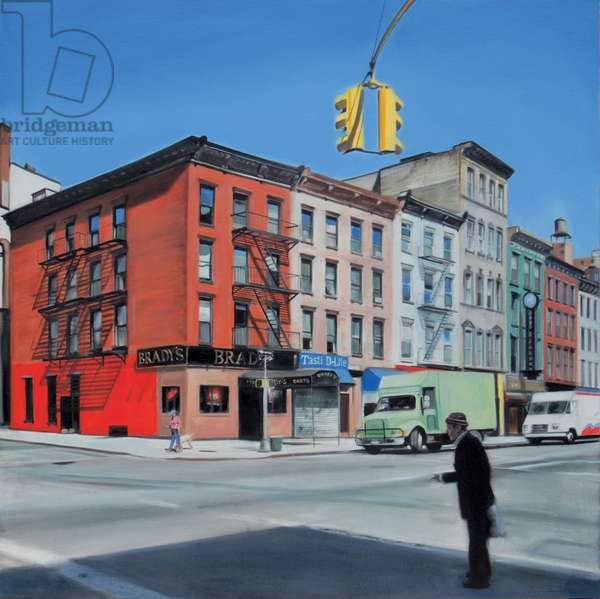2nd Avenue, Morning 2007 (oil on calico)