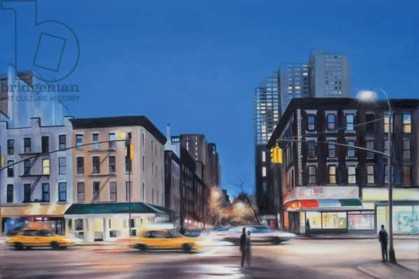 2nd Avenue, Evening, 2007, (oil on calico)