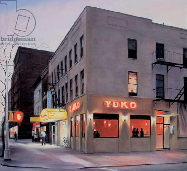 York Avenue, Evening, 2007, (oil on calico)