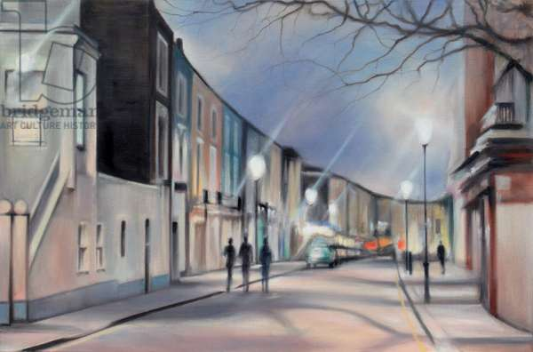 Portobello Road, London, 2008 (oil on calico)