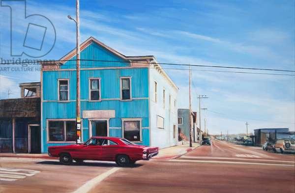 Blue House, California, 2013, (oil on canvas)