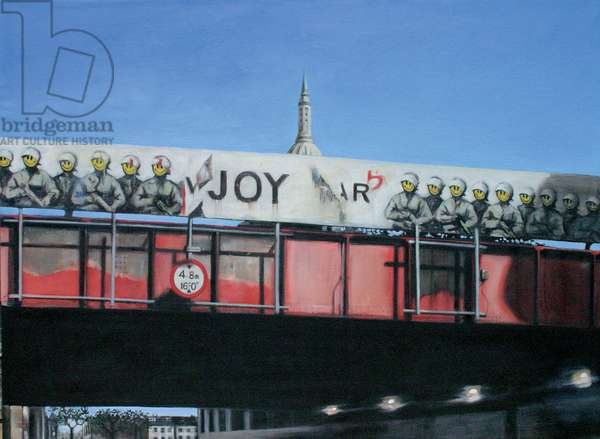 Banksy Bridge, Old Street, 2007 (oil on calico)
