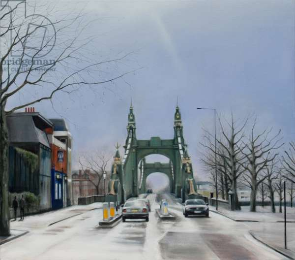 Hammersmith Bridge, Noon, 2007 (oil on canvas)