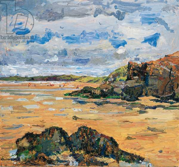 Perranporth, August, 2010 (oil on board)