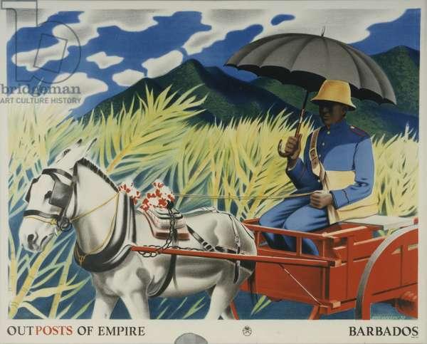 Outposts of Empire - Barbados, 1938 (colour litho)