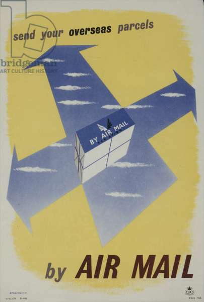 Send your overseas parcels by Air Mail, 1955 (colour litho)