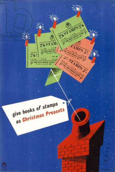 Give books of stamps as Christmas presents, 1949 (colour litho)