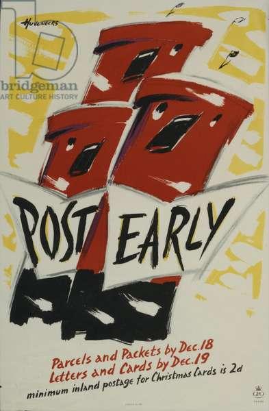 Post Early, 1957 (colour litho)