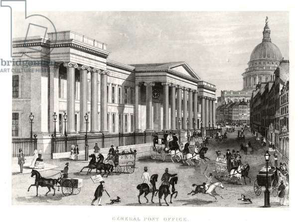 General Post Office, St-Martin-le-Grand, London (engraving)
