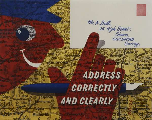 Address correctly and clearly, 1956 (colour litho)
