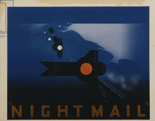 Night Mail, 1939 (poster paint on board)