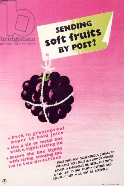 Sending soft fruits by post?, 1952 (colour litho)