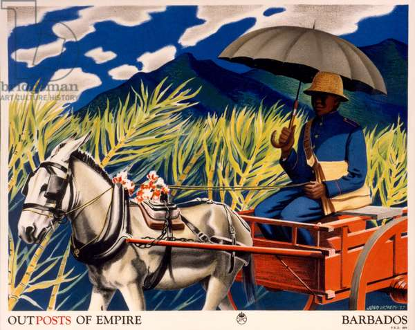 Poster advertising 'Outposts of the Empire - Barbados', 1937 (colour litho)