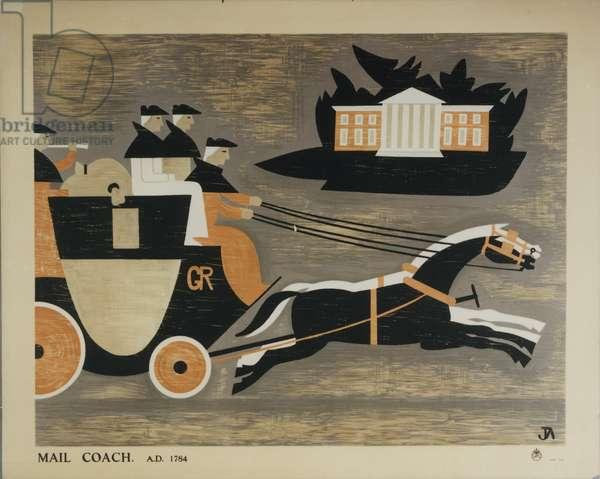 Mail Coach A.D. 1784, 1936 (colour litho)