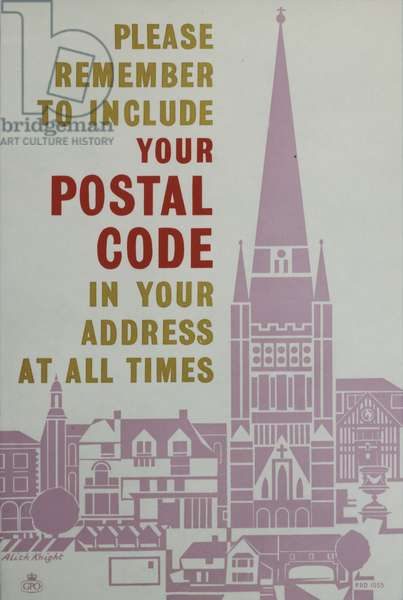 Please remember to include your postal code in your address at all times, 1960 (colour litho)