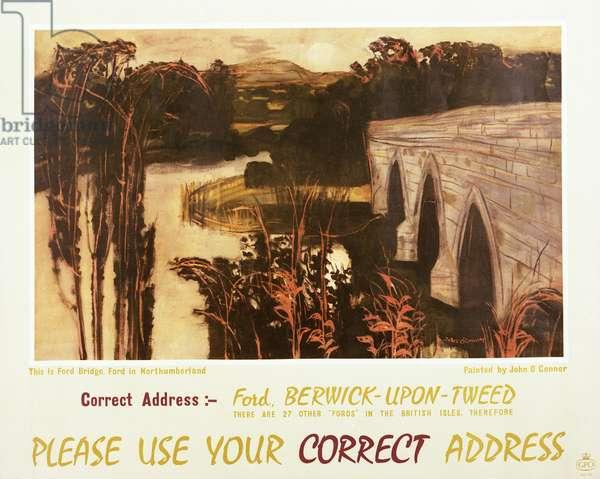 Please use your correct address, 1961 (colour litho)
