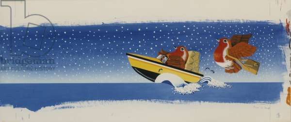 Design for Overseas Christmas Mail 1983, 1983 (poster paint on board)