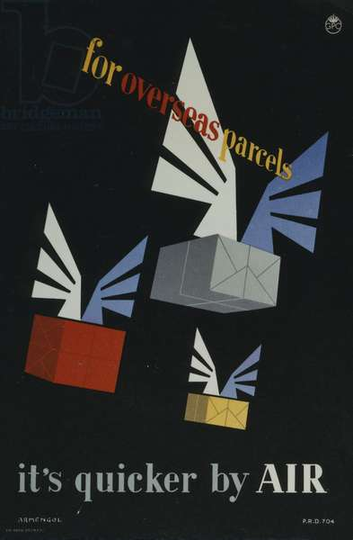 For overseas parcels it's quicker by Air, 1953 (colour litho)
