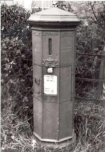 Early mainland pillar box, c.1853 (b/w photo)