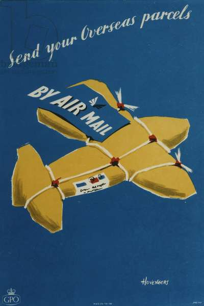 Send your overseas parcels by Air Mail, 1954 (colour litho)