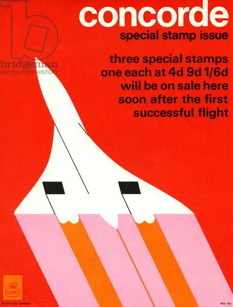 Poster advertising a set of special stamps (colour litho)