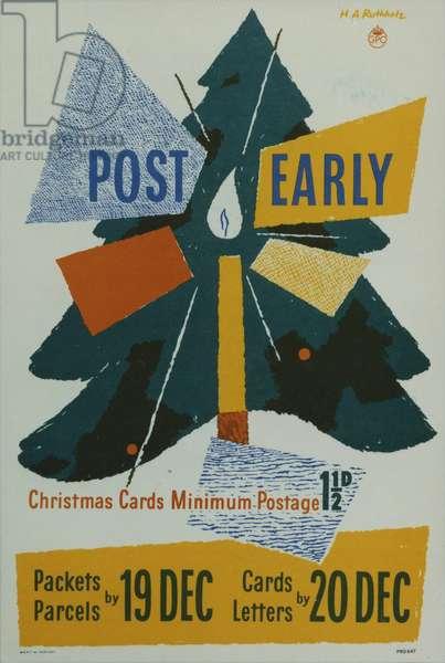 Post Early, 1951 (colour litho)