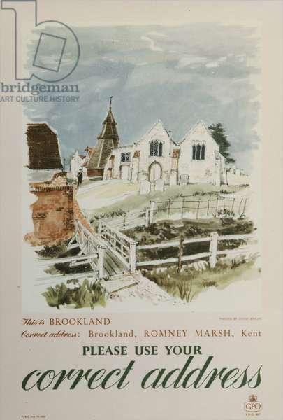Please use your correct address, 1958 (colour litho)