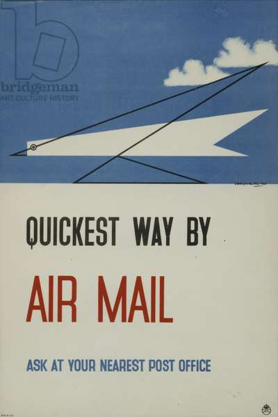 Quickest way by Air Mail, 1935 (colour litho)
