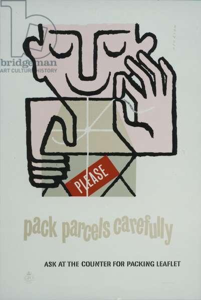 Please pack parcels carefully, 1955 (colour litho)