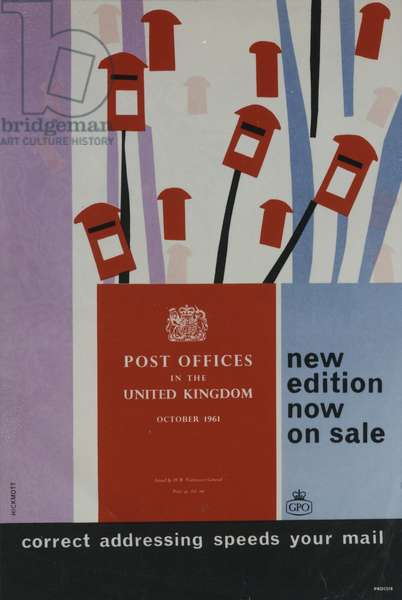 'Post Offices in the United Kingdom', 1961 (colour litho)