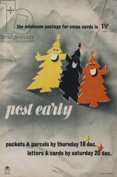 Post Early, 1952 (colour litho)