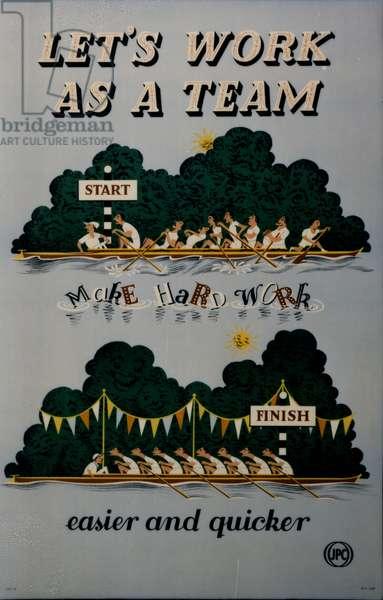 Let's Work as a Team, 1952 (colour litho)