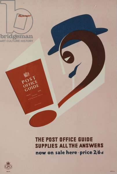 The 'Post Office Guide' supplies all the answers, 1955 (colour litho)