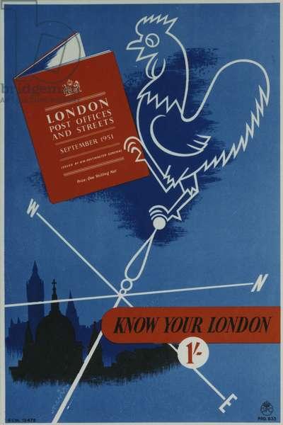 Know Your London, 1951 (colour litho)