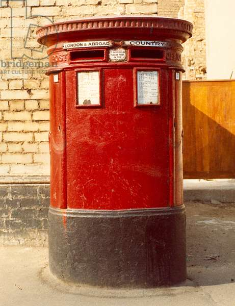 Red Double Aperture Letter Box, 1970 (photo)