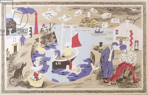 Harbour, printed at The Baynard Press, for School Prints Ltd., 1946 (colour litho)