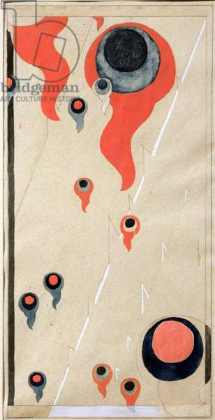 Element Fire, a rug design (w/c and gouache on paper)