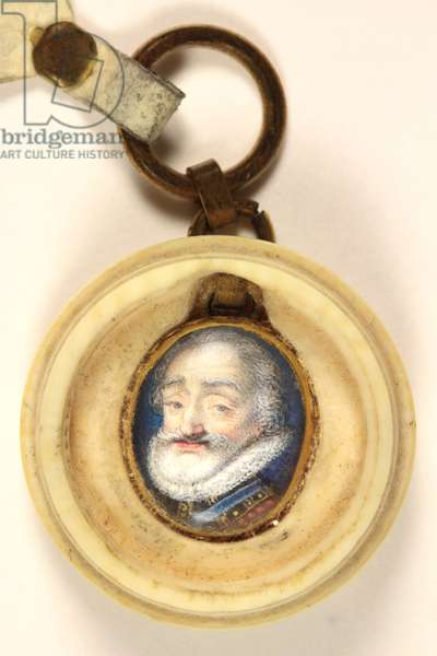 Henry IV of France (w/c on vellum)