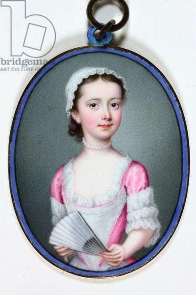 Lady Henrietta Cavendish Bentinck, later Countess of Stamford, 1741 (enamel)
