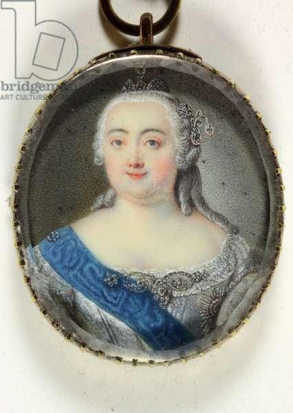 Elizabeth Petrovna, Empress of Russia (enamel)