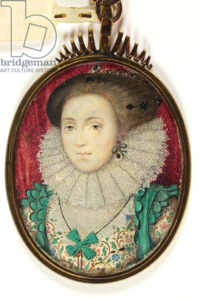 A Lady traditionally identified as Mrs Holland, Lady Cope (w/c on vellum)