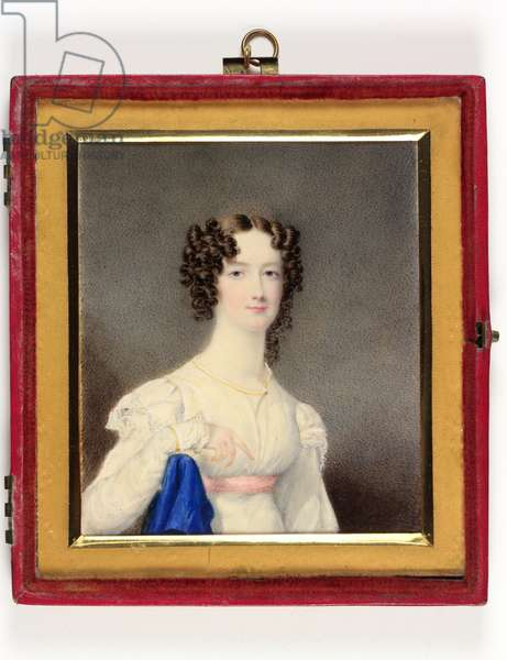 A young lady called a daughter of the 4th Duke of Portland (enamel)