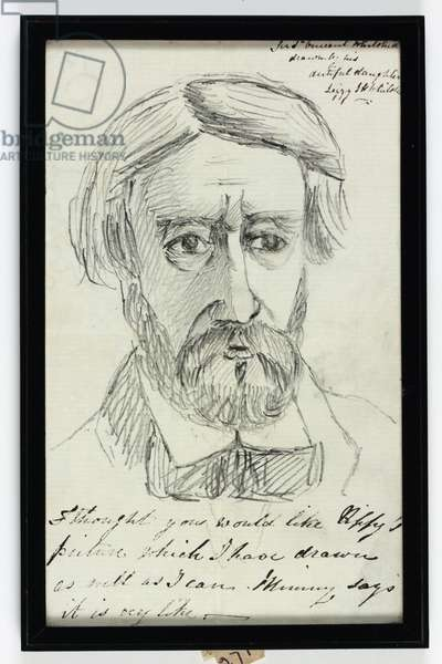 Sir St Vincent Keene Hawkins-Whitshed Bart (pencil on paper)