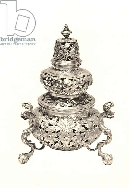 Vase-shaped incense burner, 1678 (silver)