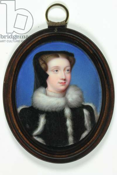 Portrait of a lady called Mary Queen of Scots (enamel)