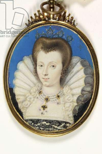 A Lady traditionally identified as Elizabeth Bruges, Lady Kennedy (w/c on vellum)