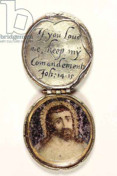 Locket containing a head of Christ (silver & w/c on vellum) (see also 3075924 and 3075922)
